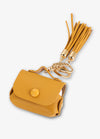 Yellow Tassel Keychain AirPod Case