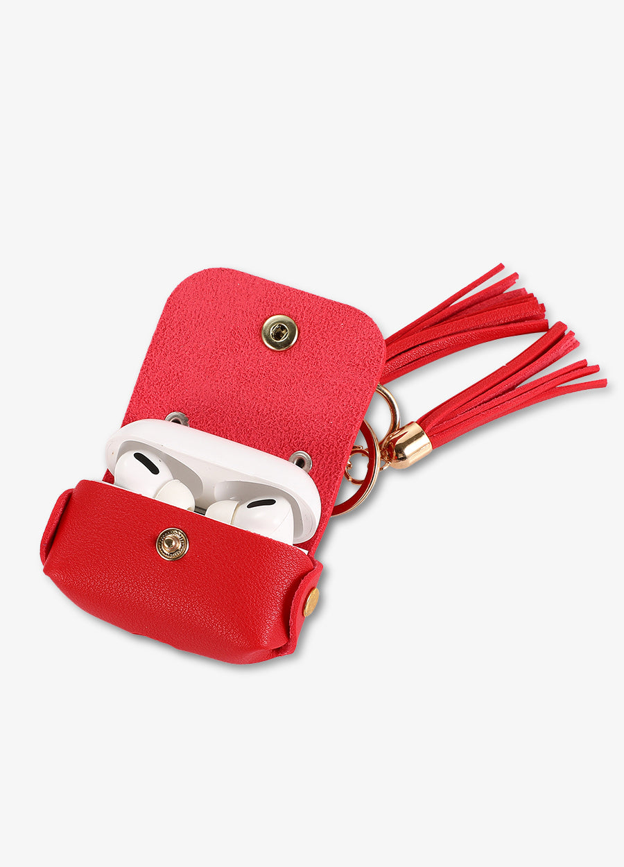 Red Tassel Keychain AirPod Case