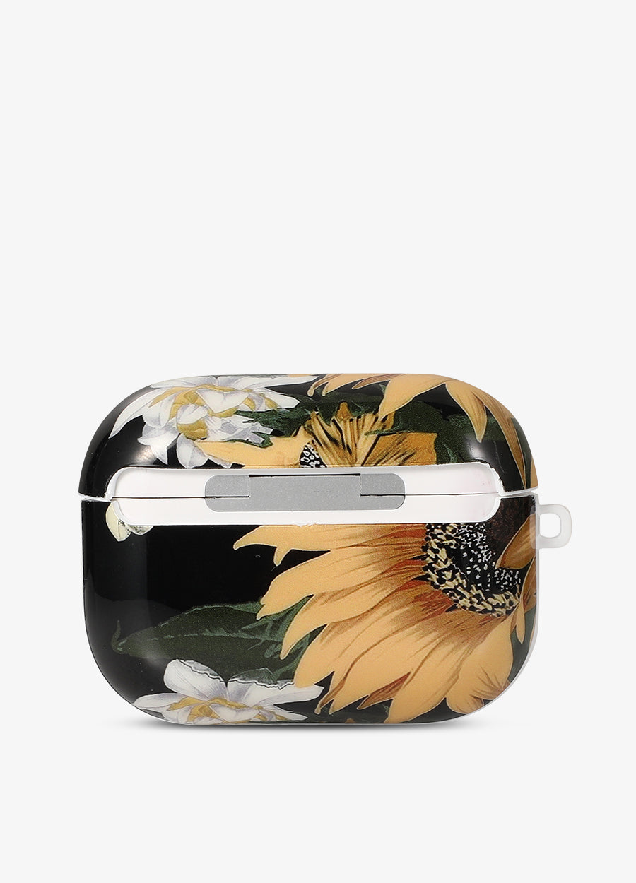 Black Sunflower AirPod Case