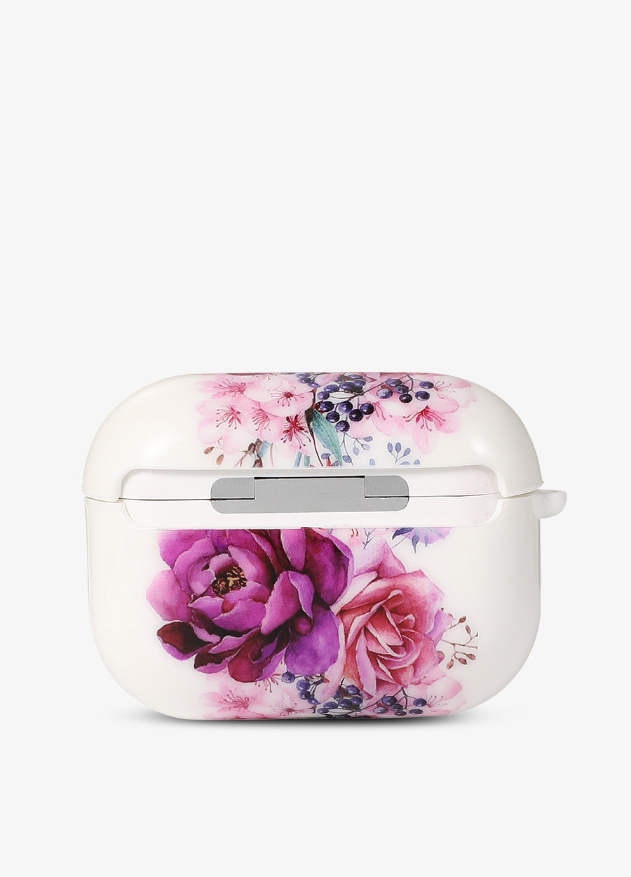 Purple Floral AirPod Case