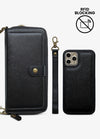 2-in-1 RFID Crossbody Wallet Phone Case in Black