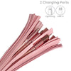 2-in-1 Pink Tassel Keychain Charging Cable