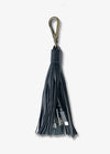 2-in-1 Black Tassel Keychain Charging Cable