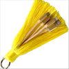 3-in-1 Yellow Keychain Tassel Charging Cable