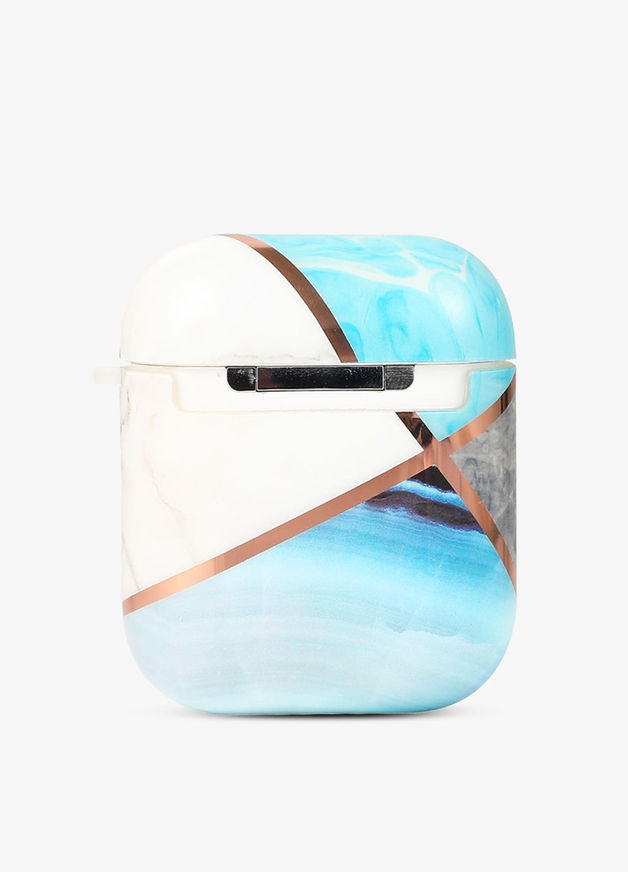 Cool Blue Geo Metallic AirPod Case