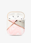 Pink Stone Geo Metallic AirPod Case