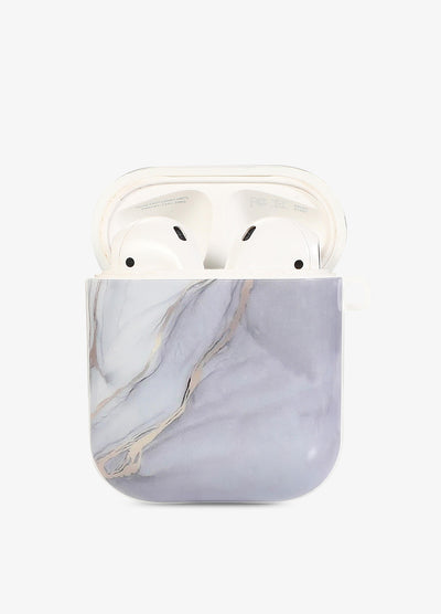 White & Gray Duo Marble AirPod Case