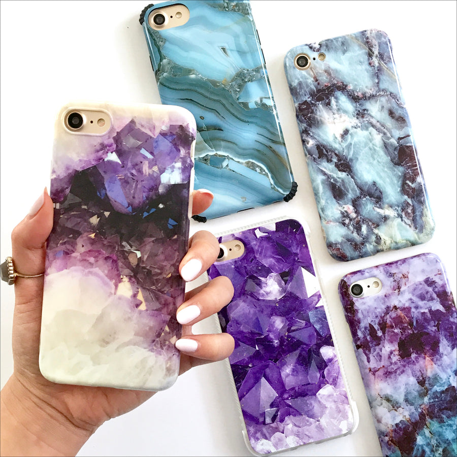 Amethyst Crystal Phone Case