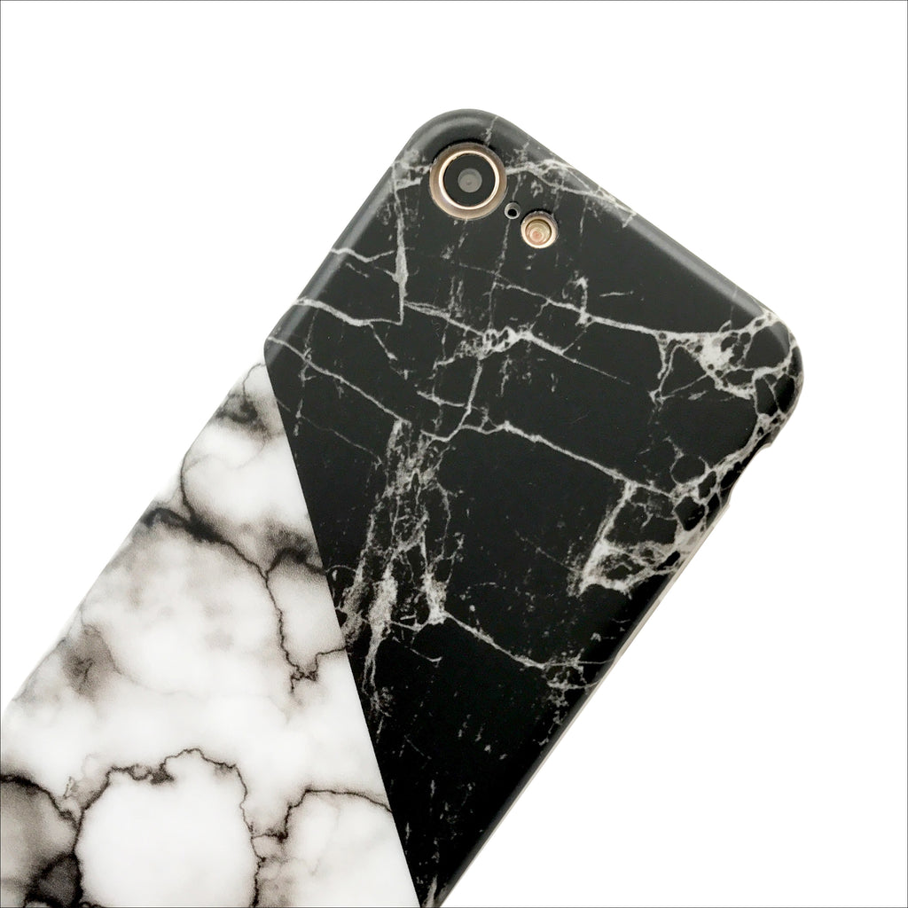 black white duo marble phone case mahalocases. Black Bedroom Furniture Sets. Home Design Ideas