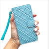 Quilted Mini Wristlet Phone Case - Baby Blue