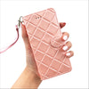 Quilted Mini Wristlet Phone Case - Baby Pink