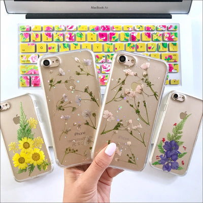 Pressed Purple Baby's Breath Case
