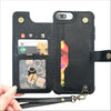 Black Card Wallet Phone Case
