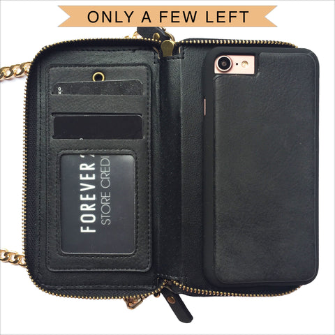 Crossbody Wallet Case in Black