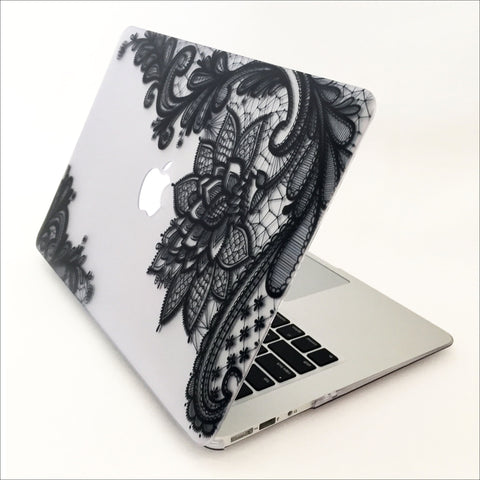 Black Lace Paisley Macbook Protective Case