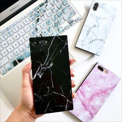 Black Marble Box Phone Case