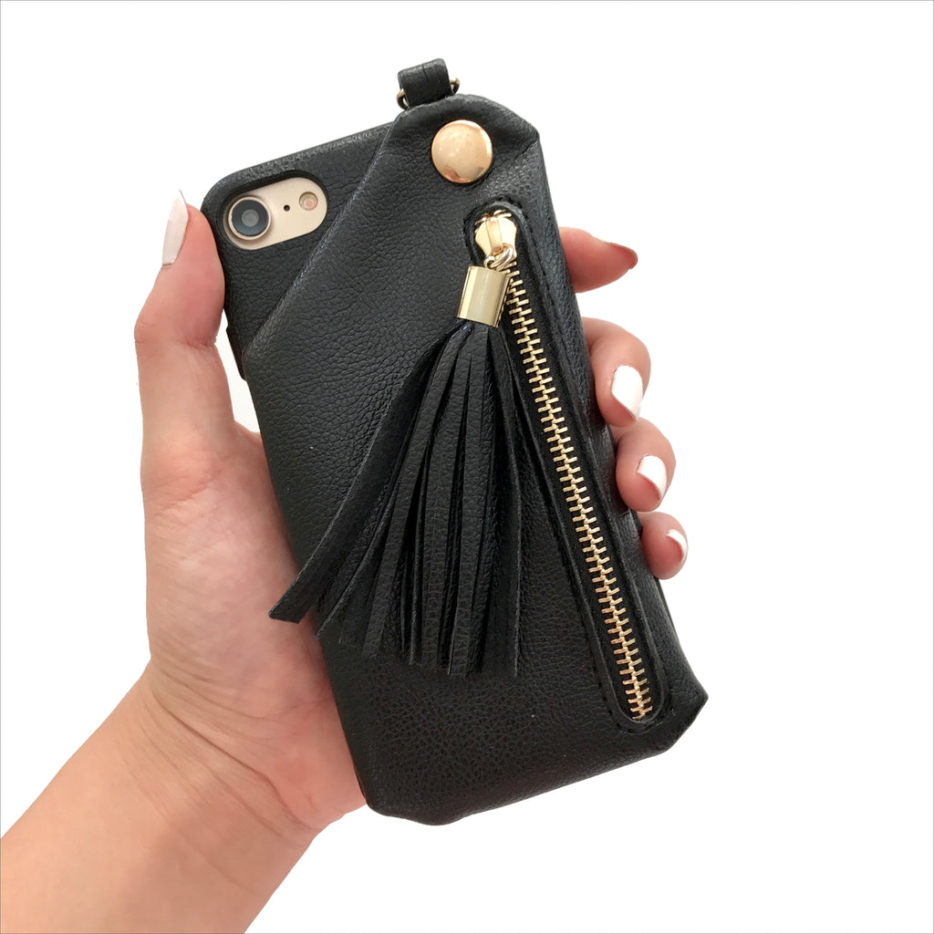 Black Tassel Wallet Case