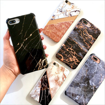 Black & Gold Marble Protector Phone Case