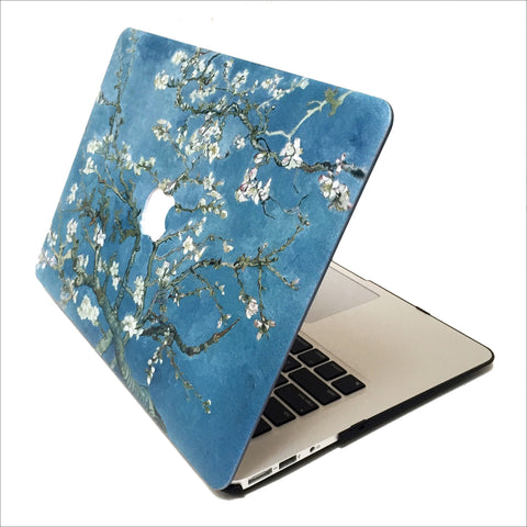 Blue Cherry Blossoms Macbook Protective Case