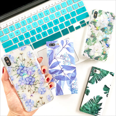 Blue Daze Flowers Phone Case