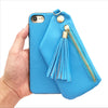 Blue Tassel Wallet Case