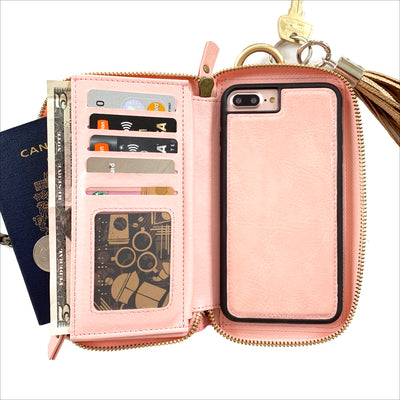 Everyday Crossbody Wallet Phone Case in Blush