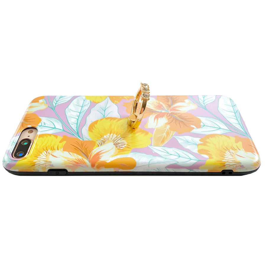 Yellow Orchid Glam Ring Case