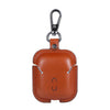 Brown Leather Keychain AirPod Case