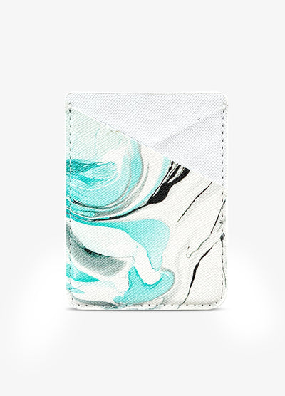 Card Pocket in Marble Swirl