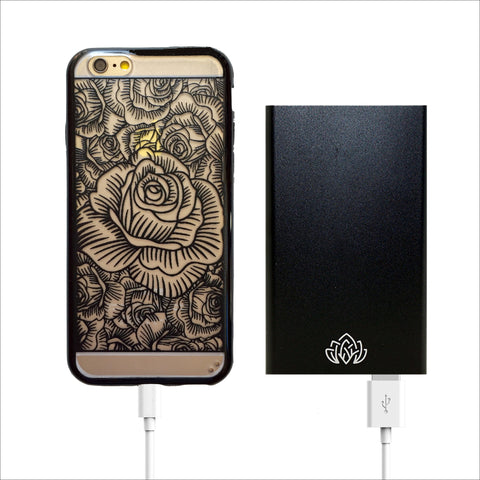 Black Portable Power Bank Charger - 6000 mAh