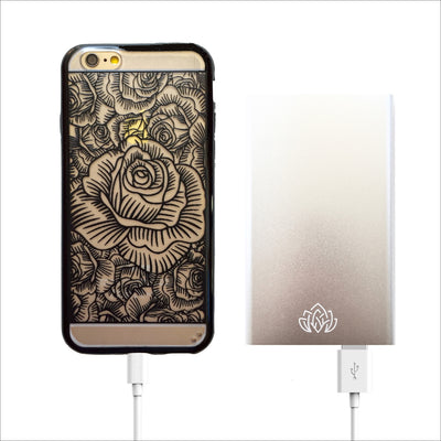 Silver Portable Power Bank Charger - 6000 mAh