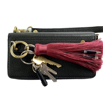 3-in-1 Berry Tassel Keychain Charging Cable