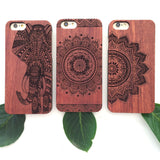 Cherry Wood Half Moon Mandala Phone Case