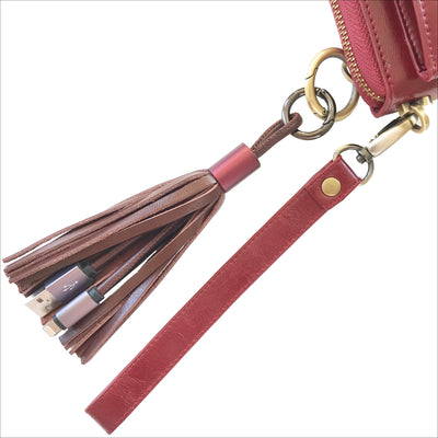 Chocolate Tassel Keychain Charging Cable