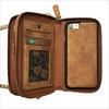 Crossbody Wallet Case in Tan