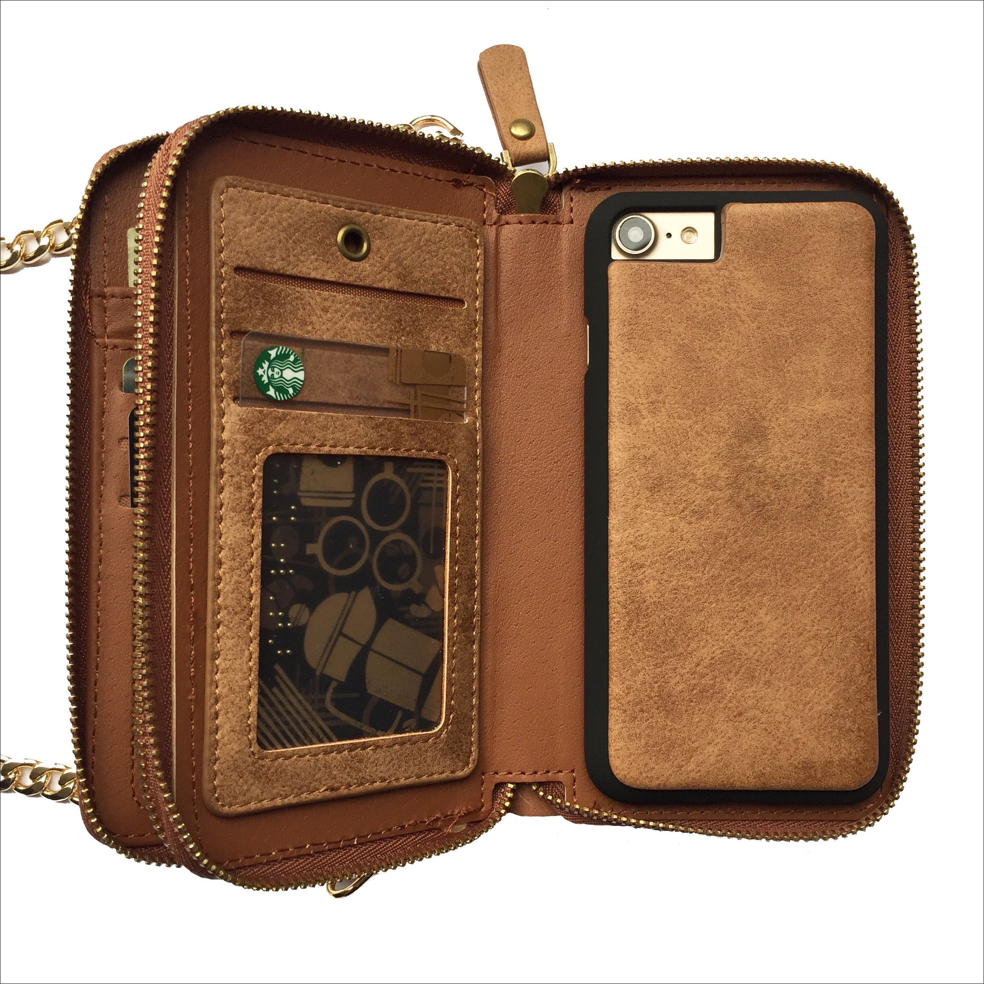 049cb5ae0e37 Crossbody Wallet Case in Tan