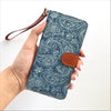 Paisley Denim Wallet Phone Case