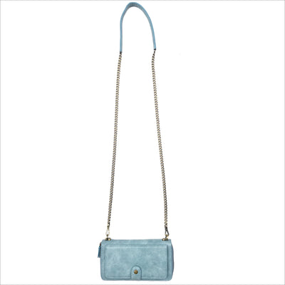 Everyday Crossbody Wallet Phone Case in Dusty Blue