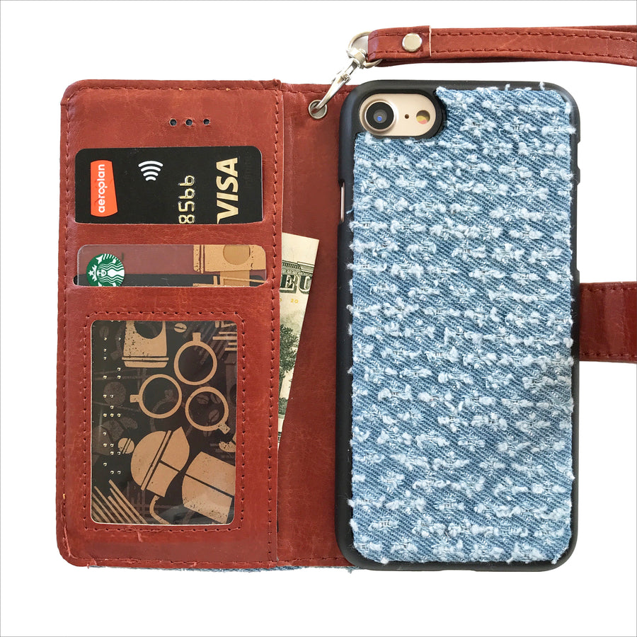 Edgy Denim Wallet Phone Case