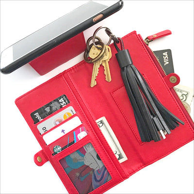 Essential Clutch Wallet Case in Cherry Red