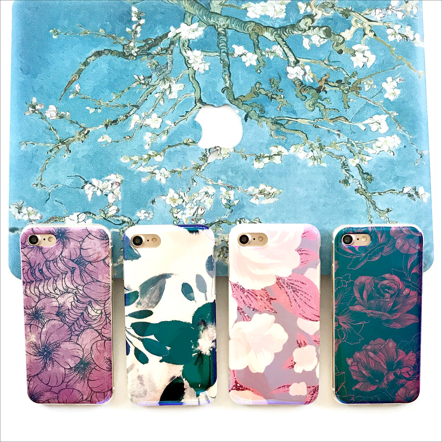 Classic Floral Shimmer Phone Case