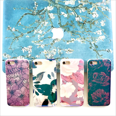 Purple Floral Shimmer Phone Case