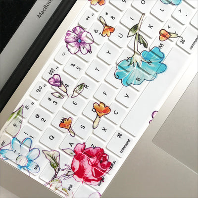 Macbook Case & Keyboard Set - Floating Florals