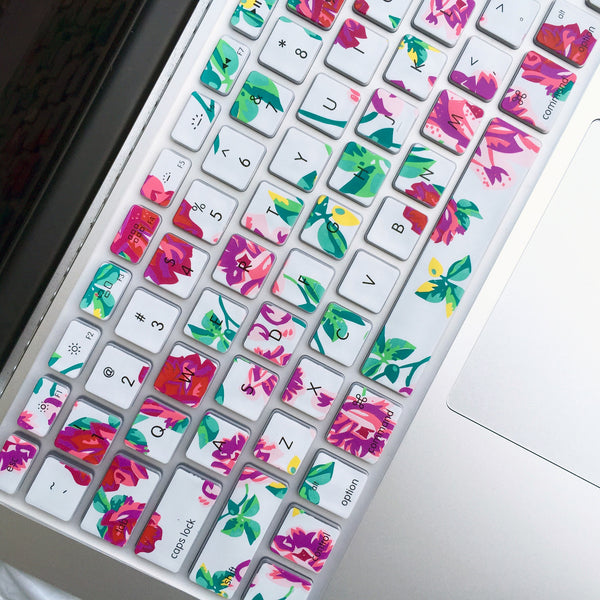 Macbook Keyboard Cover Floral Mahalocases
