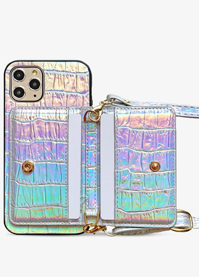 Crossbody Card Case in Holo