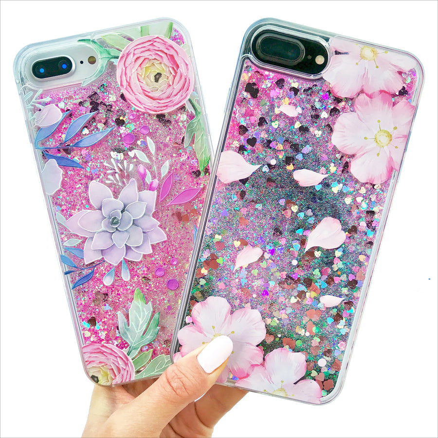 Succulents Glitter Phone Case