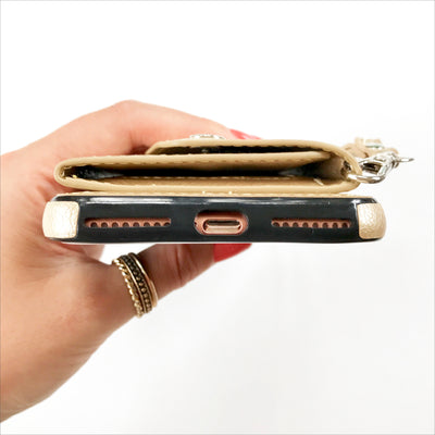 Folded Card Case Wallet in Gold
