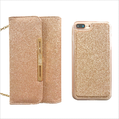 Glam Gold Glitter Wallet Phone Case