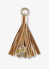 Gold Tassel Keychain Charging Cable
