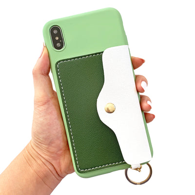 Pocket Wallet Phone Case in French Green